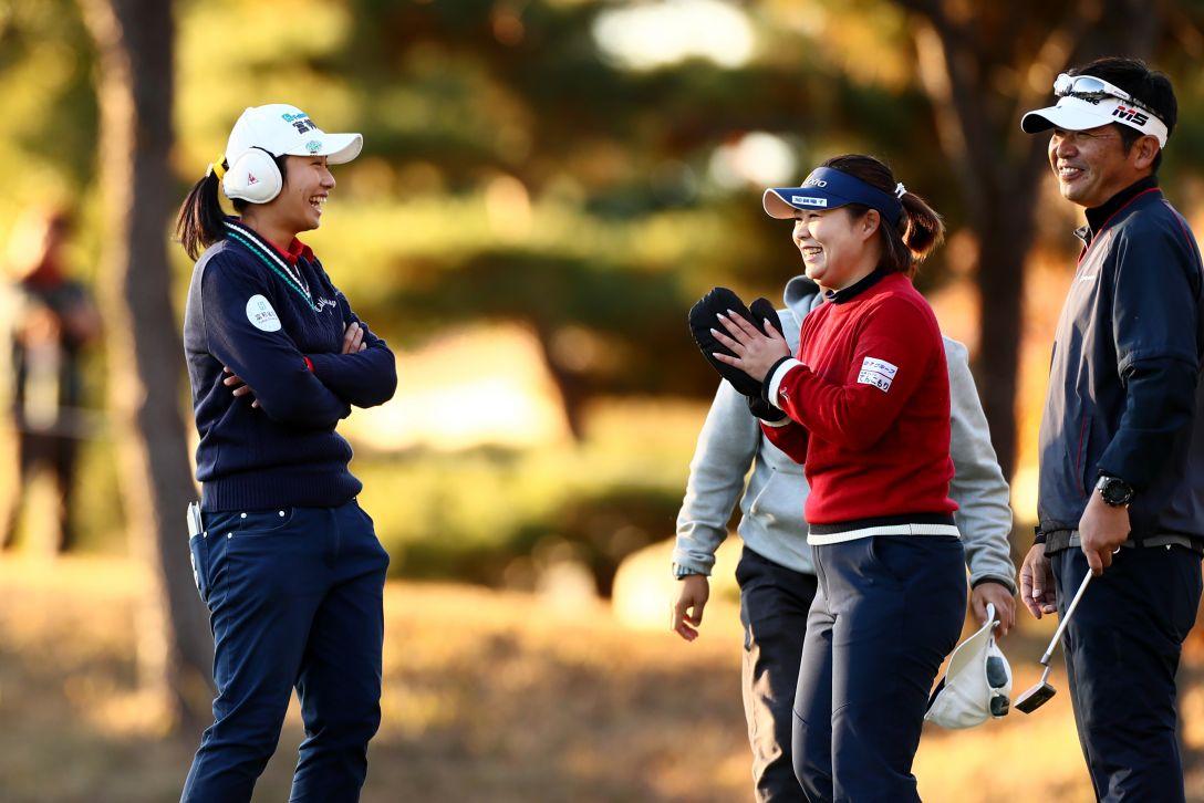 QTファイナルステージ 第1日 フェービー・ヤオ&東浩子 <Photo:Ken Ishii/Getty Images>