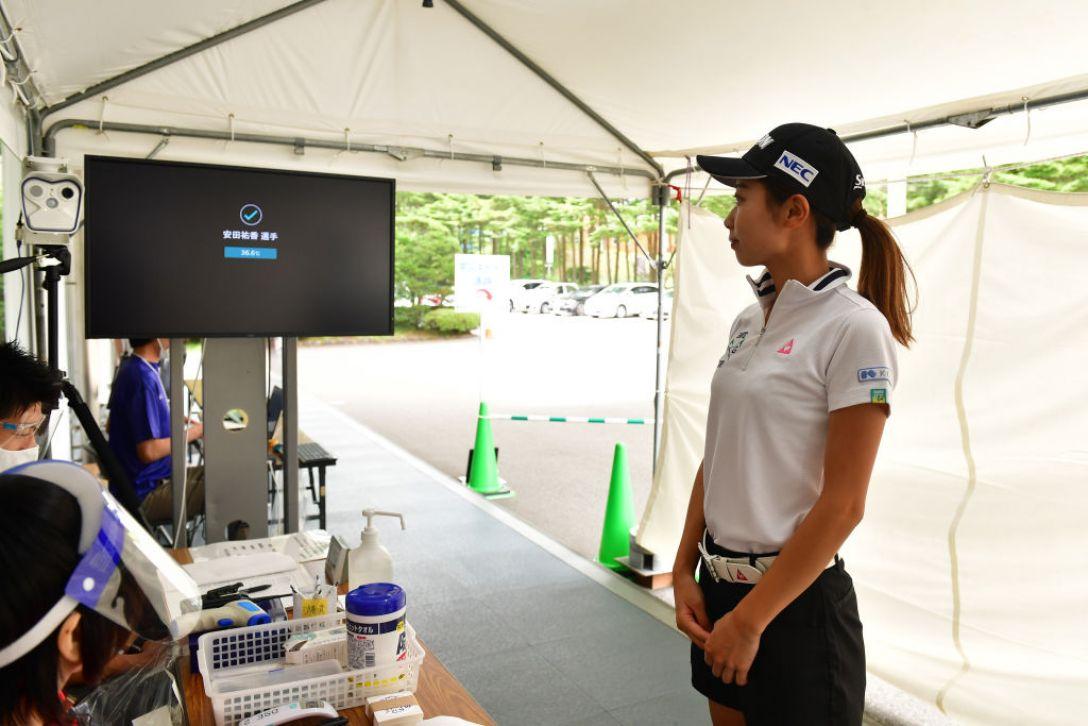 NEC軽井沢72ゴルフトーナメント 指定練習日1 安田 祐香<Photo:Atsushi Tomura/Getty images>