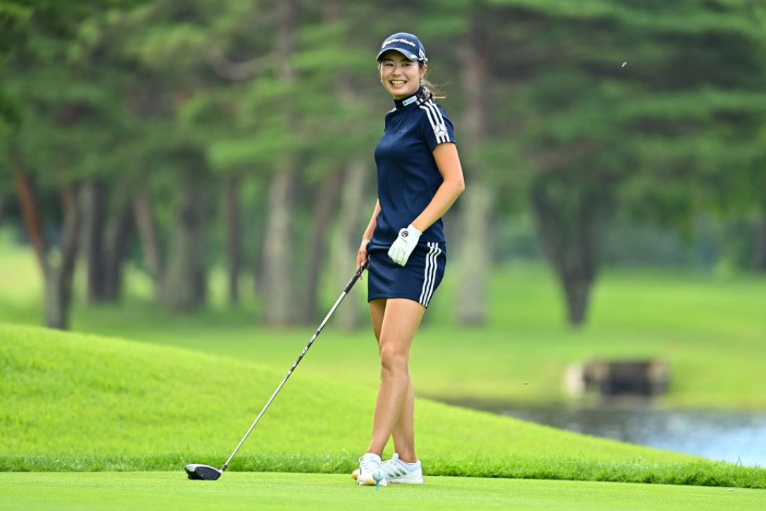 NEC軽井沢72ゴルフトーナメント 指定練習日1 松森 彩夏<Photo:Atsushi Tomura/Getty images>