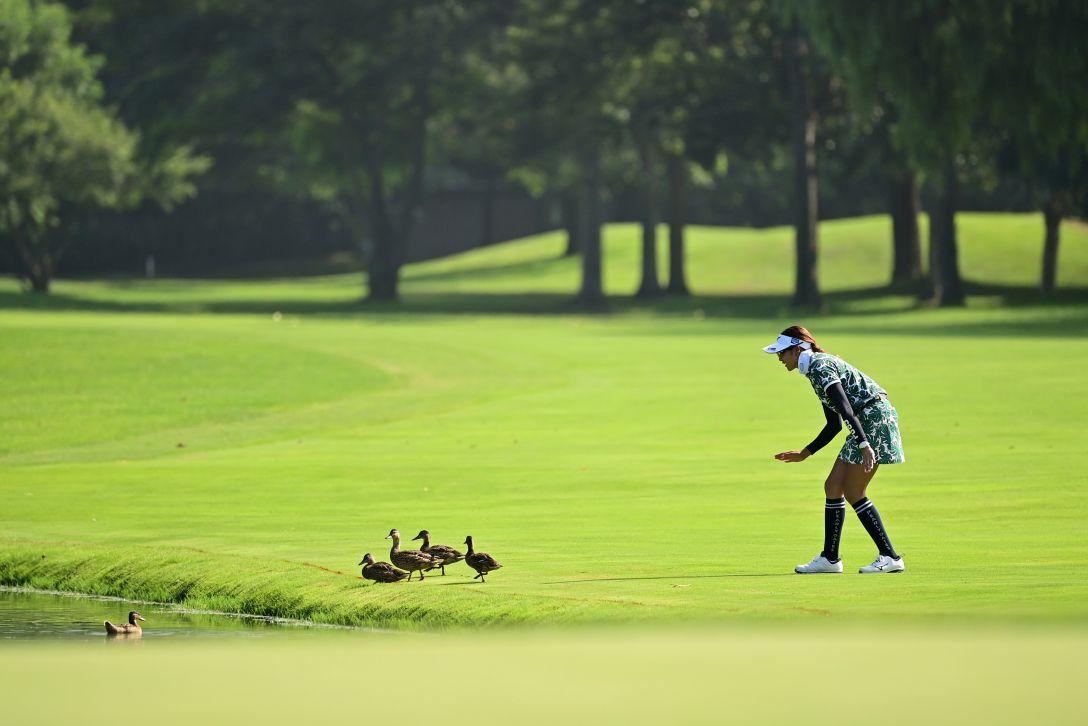 ニトリレディスゴルフトーナメント 第1日 原英莉花 <Photo:Atsushi Tomura/Getty Images>