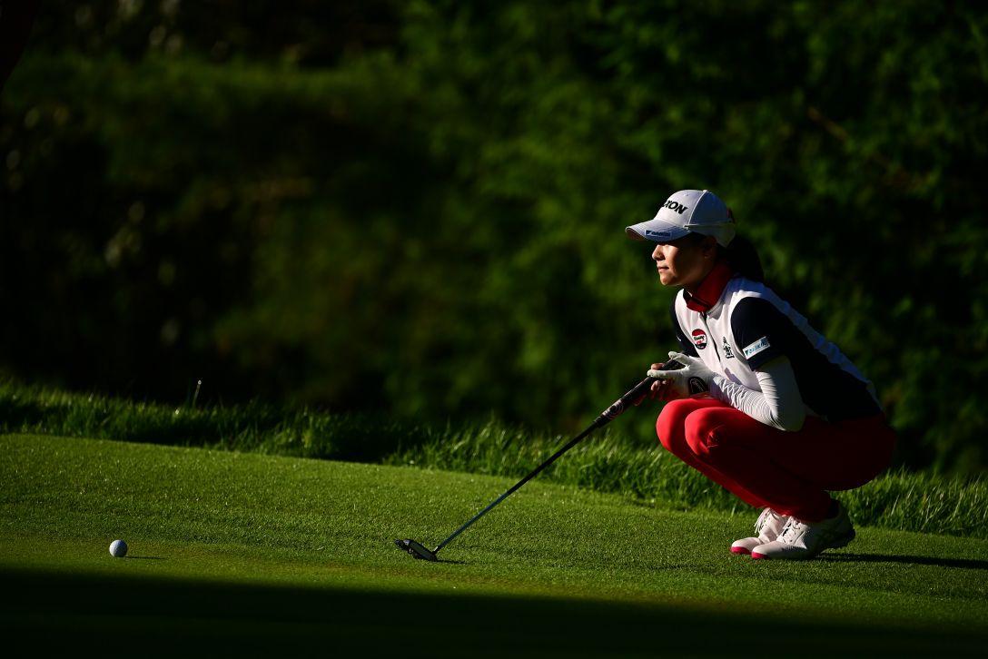 ゴルフ5レディス プロゴルフトーナメント 第2日 新垣比菜 <Photo:Atsushi Tomura/Getty Images>