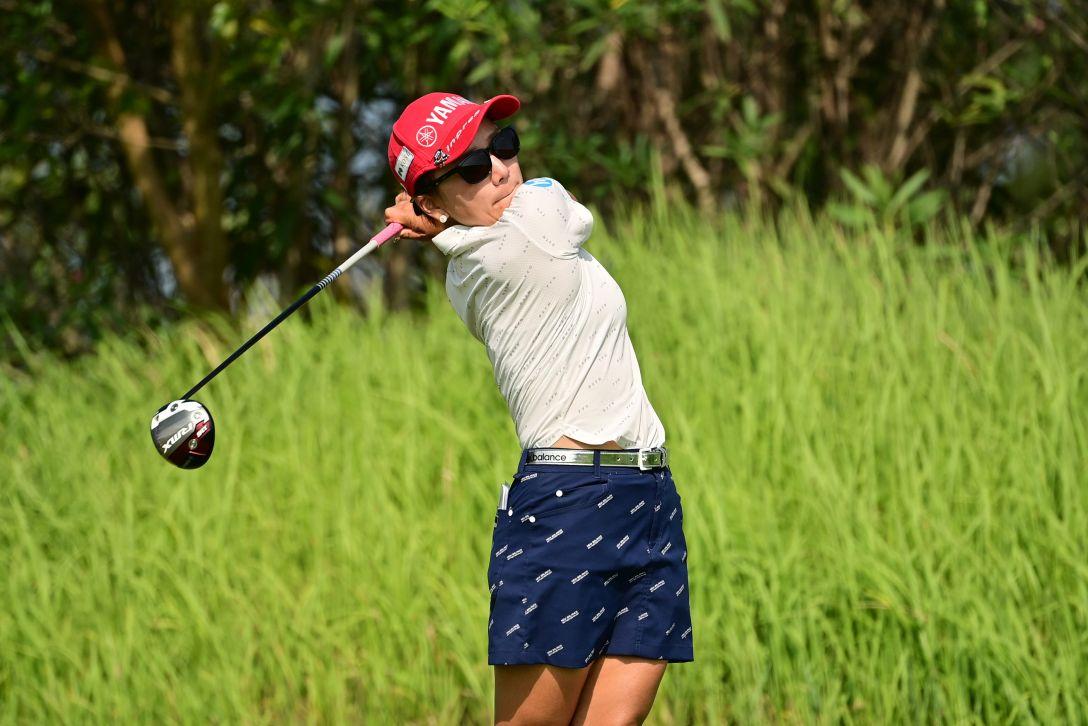 日本女子プロゴルフ選手権大会コニカミノルタ杯 第1日 有村智恵 <Photo:Atsushi Tomura/Getty Images>