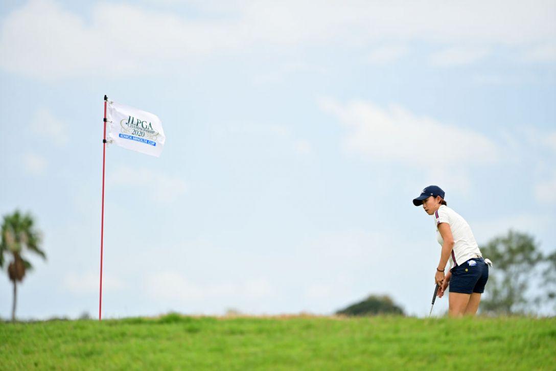 日本女子プロゴルフ選手権大会コニカミノルタ杯 第2日 原江里菜 <Photo:Atsushi Tomura/Getty Images>