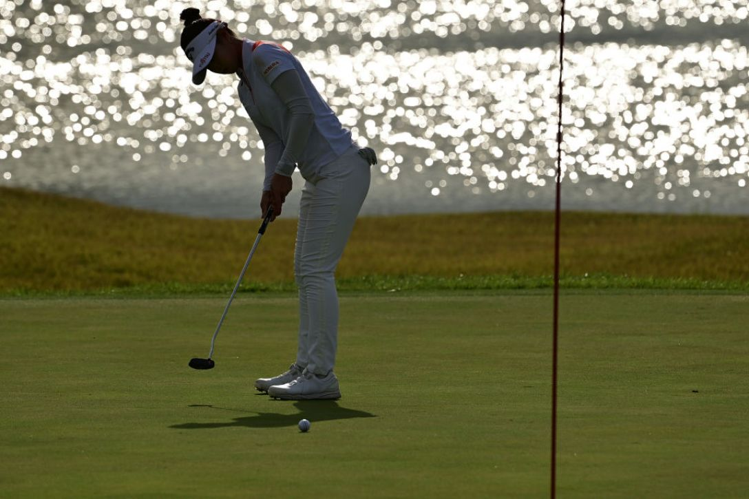日本女子プロゴルフ選手権大会コニカミノルタ杯 第2日 柏原明日架 <Photo:Atsushi Tomura/Getty Images>