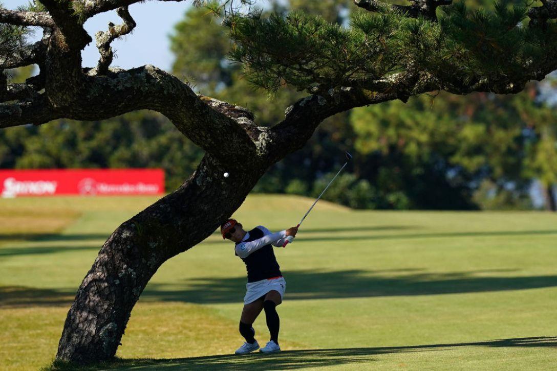 JLPGAツアーチャンピオンシップリコーカップ 第2日 有村智恵 <Photo:Ken Ishii/Getty Images>
