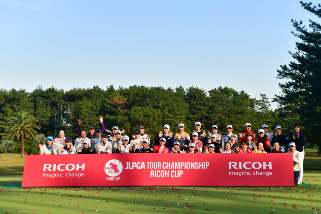 JLPGAツアーチャンピオンシップリコーカップ 最終日 出場者全員 <Photo:Atsushi Tomura/Getty Images>