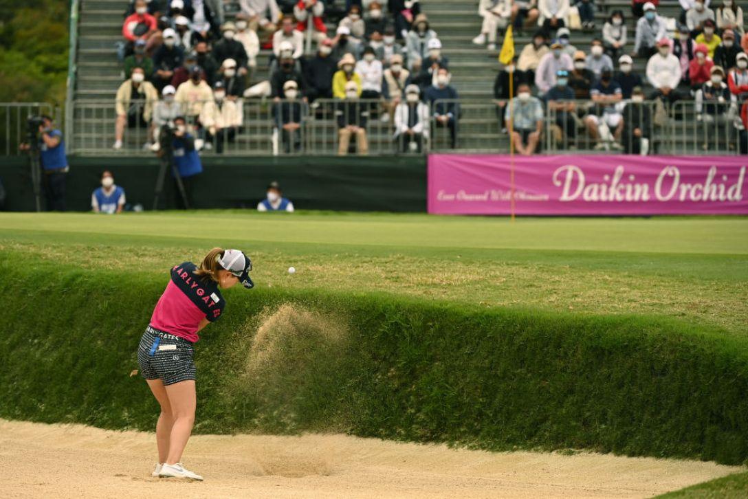 第34回ダイキンオーキッドレディスゴルフトーナメント 第3日 上田桃子 <Photo:Atsushi Tomura/Getty Images>