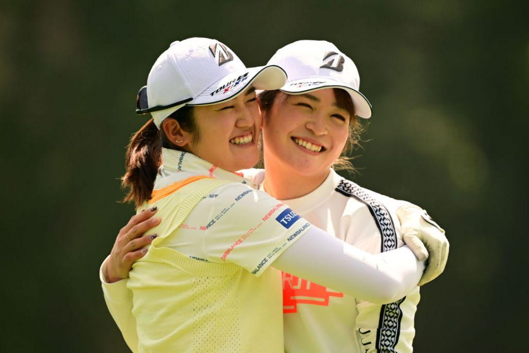 Tポイント×ENEOS ゴルフトーナメント 稲見萌寧 三ヶ島かな <Photo:Atsushi Tomura/Getty Images>