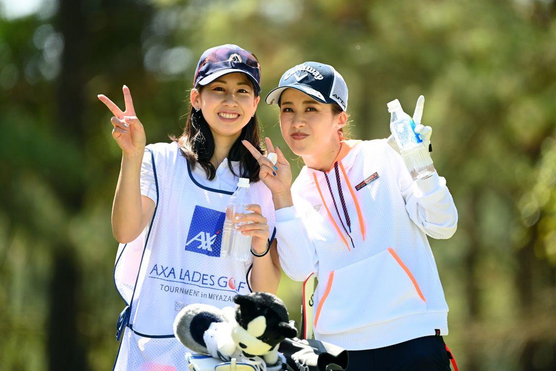 アクサレディスゴルフトーナメント in MIYAZAKI 2021 第1日 加賀其真美 <Photo:Atsushi Tomura/Getty Images>