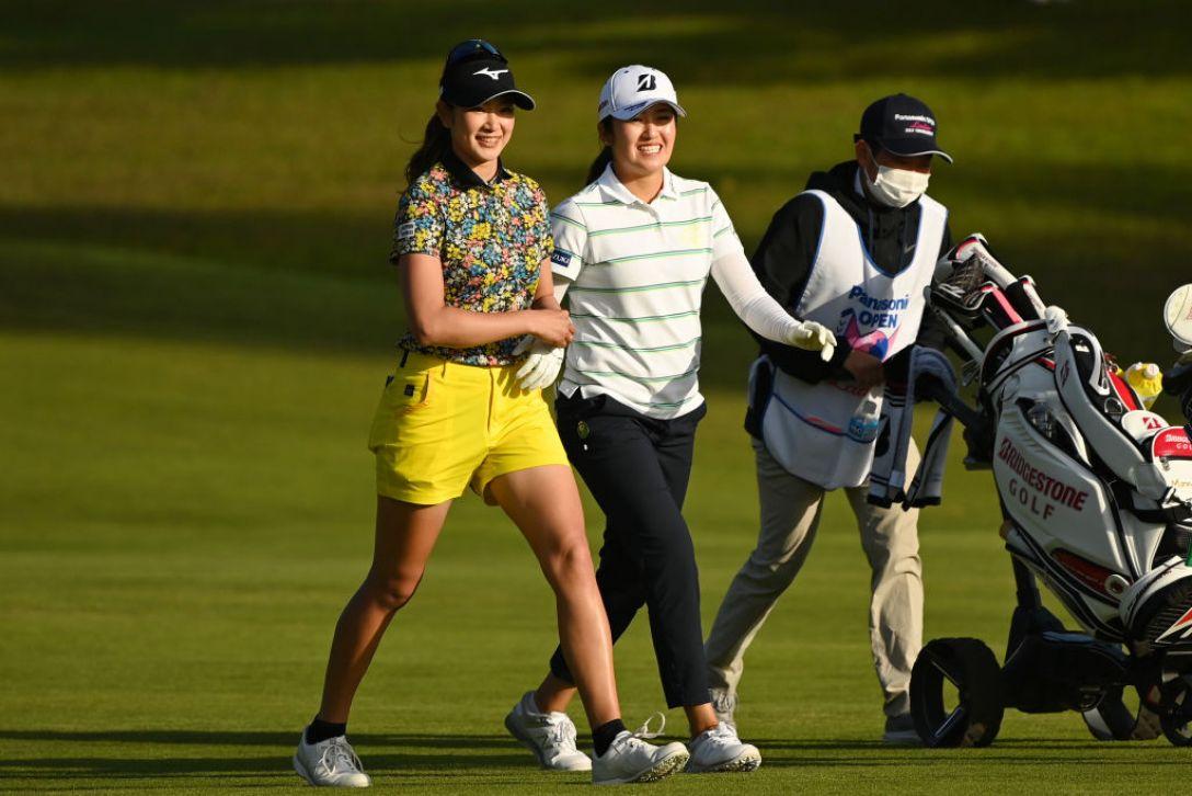 パナソニックオープンレディースゴルフトーナメント 第1日 原英莉花 稲見萌寧 <Photo:Atsushi Tomura/Getty Images>