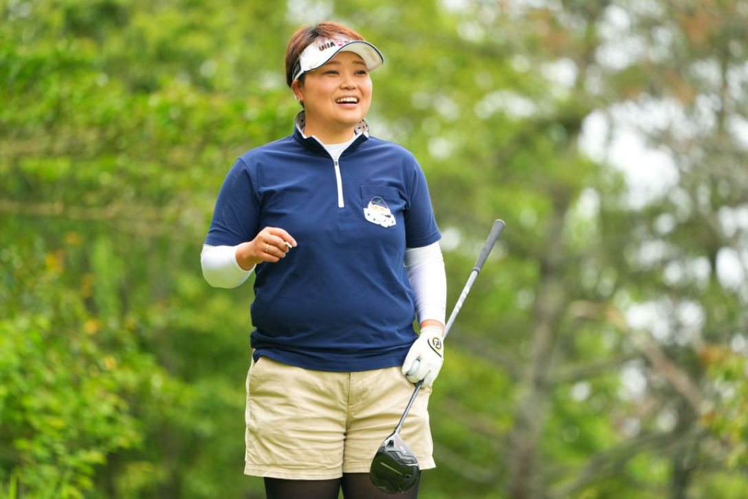 ECCレディスゴルフトーナメント 第1日 天良枝里子 <Photo:Masterpress/Getty Images>