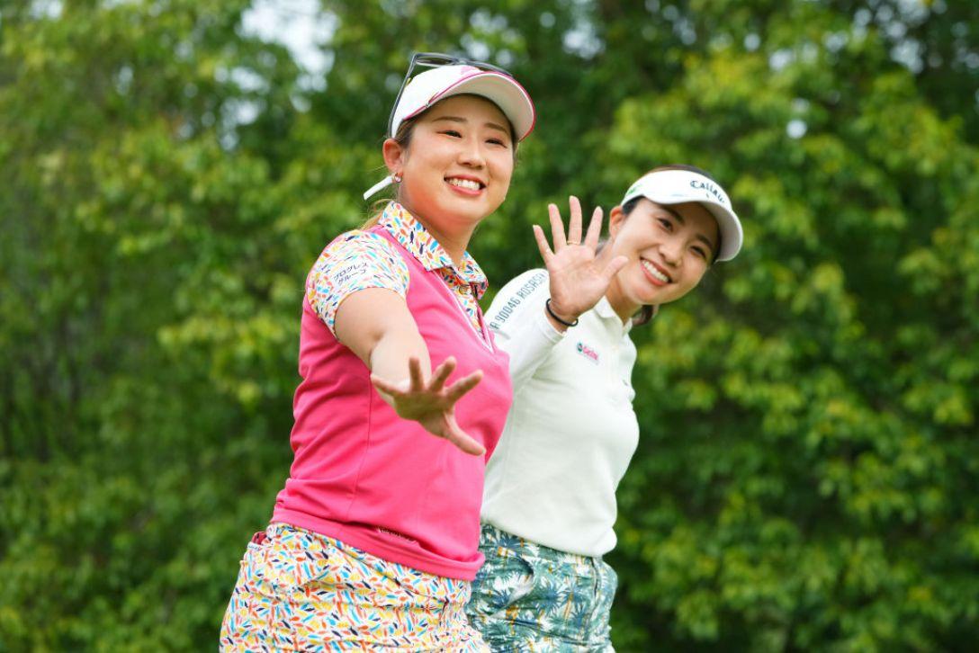 ECCレディスゴルフトーナメント 第1日 照山亜寿美 井上りこ <Photo:Masterpress/Getty Images>