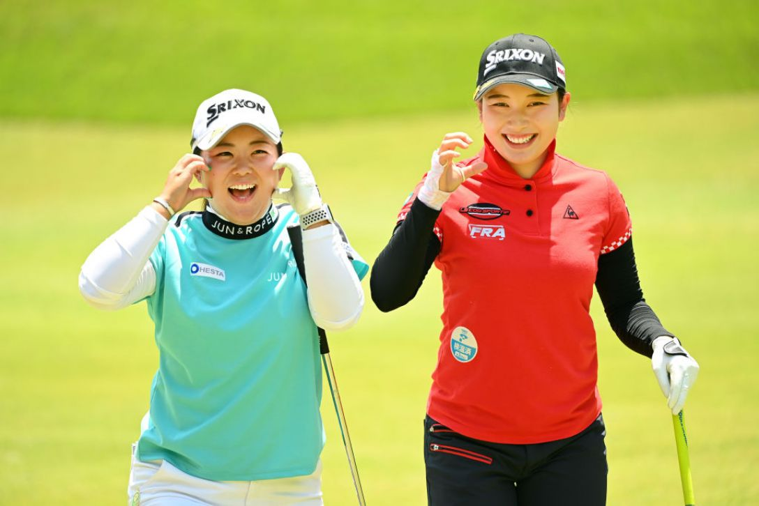 ヨネックスレディスゴルフトーナメント 淺井咲希 小祝さくら <Photo:Atsushi Tomura/Getty Images>