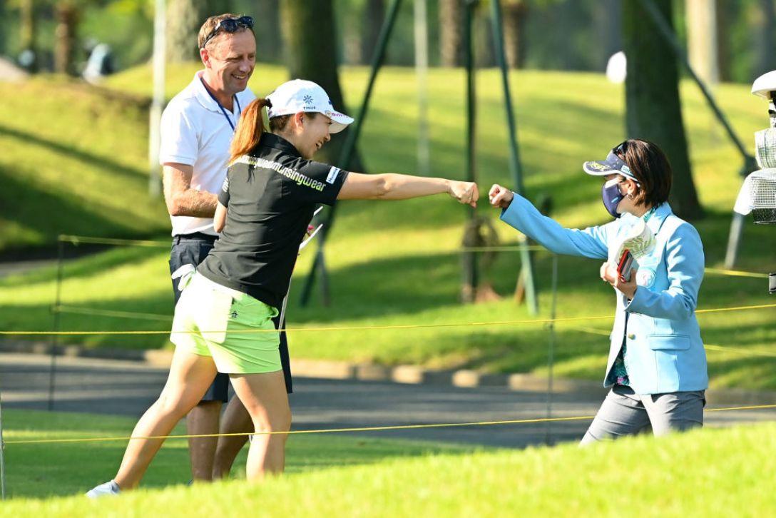 宮里藍 サントリーレディスオープンゴルフトーナメント 第1日 宮里美香 宮里藍 <Photo:Atsushi Tomura/Getty Images>