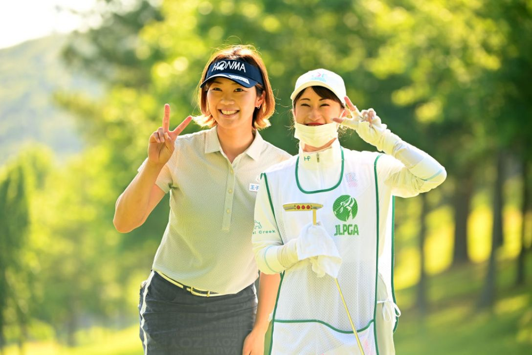 宮里藍 サントリーレディスオープンゴルフトーナメント 第1日 葭葉ルミ <Photo:Atsushi Tomura/Getty Images>