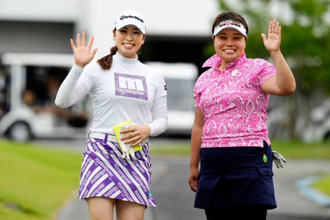 Sky レディースABC杯 第3日 田村亜矢 天良枝里子 <Photo:Ken Ishii/Getty Images>