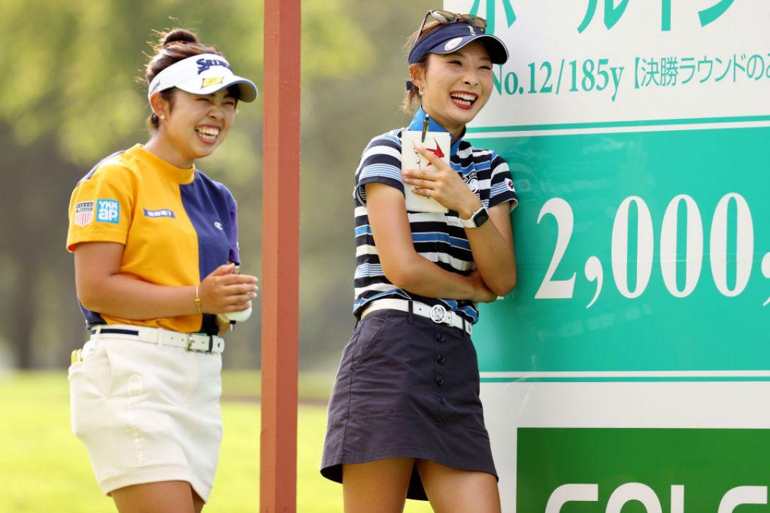 ニトリレディスゴルフトーナメント 第3日 山下美夢有 鶴岡果恋 <Photo:Atsushi Tomura/Getty Images>
