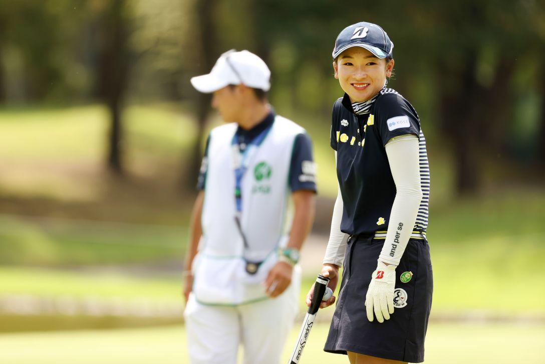 日本女子プロゴルフ選手権大会コニカミノルタ杯 第2日 松田鈴英 <Photo:Atsushi Tomura/Getty Images>