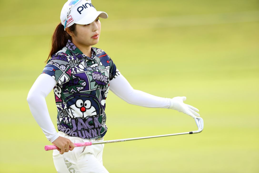 日本女子オープンゴルフ選手権 第1日 佐久間朱莉 <Photo:Atsushi Tomura/Getty Images>